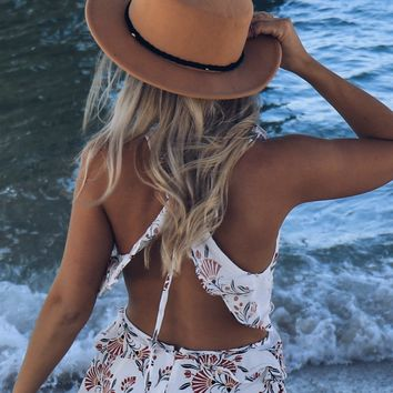 Boho Tan Hat With Rope