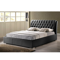 Bianca Modern Bed with Tufted Headboard