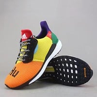 Trendsetter Adidas Pw Hu Holi Solar Boost   Women Men Fashion Casual  Sneakers Sport Shoes