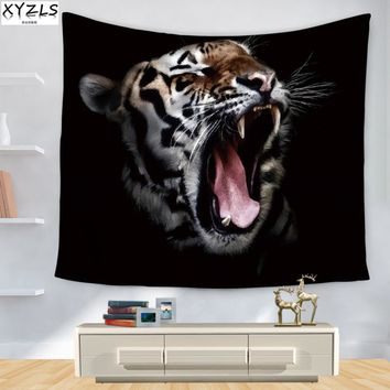 XYZLS 150*200cm Wall Tapestry Tiger Pattern Tapestry Animal Beach Towel Home Printed Decoration Sofa Cover