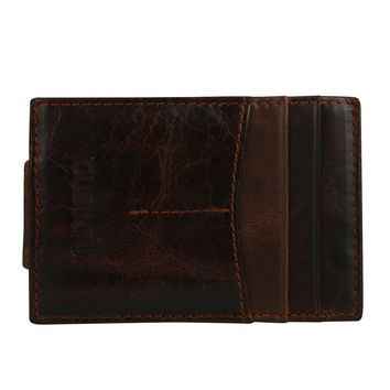 High Quality New leather men's wallet Dollar Clip Purse ID Credit Card Holder Solid color