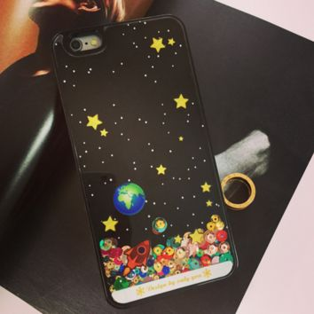 Star paillette quicksand  Phone Case Cover for Apple iPhone 7 7 Plus 5S 5 SE 6 6S 6 Plus 6S Plus + Nice gift box! LJ160927-005