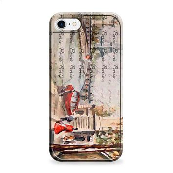 Old Paris postcard with Eiffel tower iPhone 6 | iPhone 6S case