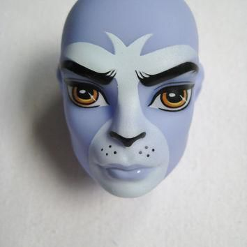 Monster High Doll Head Loose Body Part Purple Puma Boy Create A Monster CAM Part Just