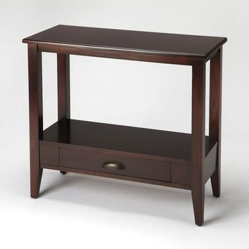 Barclay Transitional Rectangular Console Table Dark Brown