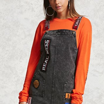 Realness Patch Overall Dress
