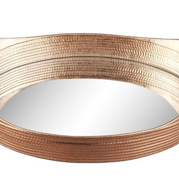 Basket Tray Gold Set Of Two Metal Mirror