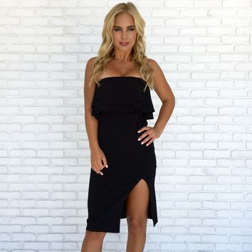 Lead The Way Dress In Black