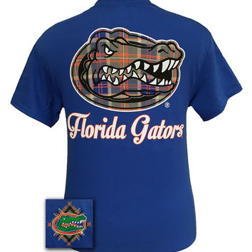 Florida Gators Big Prep Plaid Logo Girlie Bright T Shirt