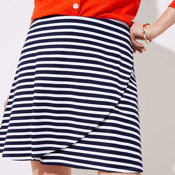 Striped Wrap Pull On Skirt | LOFT