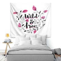 Wall Tapestry By Zara Martina Wild and Free Pink