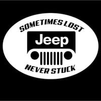 Jeep Sometimes Lost Never Stuck Decal Vinyl car truck auto vehicle window decal custom sticker Jeep Decal