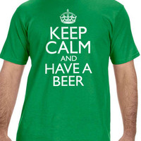 St Patrick's Day Keep Calm and have a Beer Men's T-shirt Husband Gift Cool Party T Shirt Boyfriend Gift Shirts Irish Gift Ireland shirt