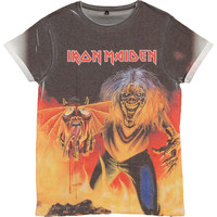 Iron Maiden Men's  Number Of The Beast Sublimation T-shirt Multi