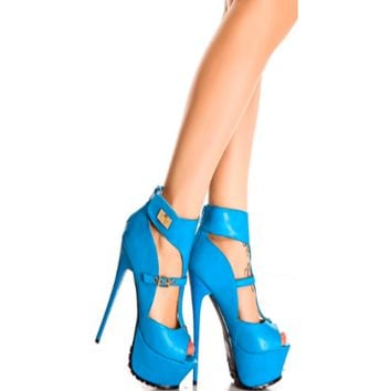 Turqouise Nostalgica High Heel Fashion Pumps