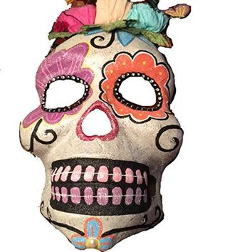 Katherine's Collection Day of the Dead Glitter Sugar Skulls Decorative Mask