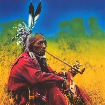 Native American Smoke for Peace Poster 24x36