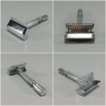 1930's Vintage / Gem Micromatic Safety Razor / Single Edge Safety Razor / Mechanical Razor / Vintage Safety Razor / Steampunk Razor