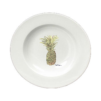 Pineapple  Ceramic - Bowl Round 8.25 inch 8654-SBW
