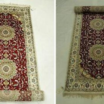 3' x 14' Red Deep tone Sheik safi Medallions New Runner artfulness Rug