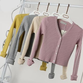 Cropped Cardigan Sweaters