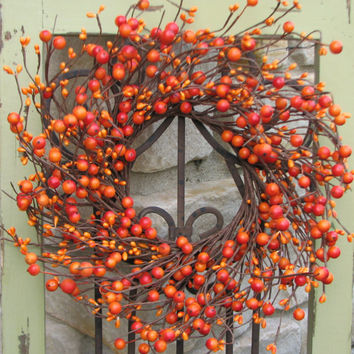 Mini Berry Wreaths, Wedding Wreaths, CandleSticks, Decorative Wreaths, Wedding Decor, Fall Wreaths, Harvest Wreaths, Berries