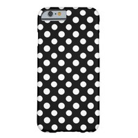 Black and White Polka Dots Pattern iPhone 6 Case
