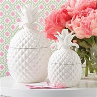 Two's Company Large Pineapple Jar With Lid