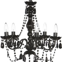 Blakely Black Acrylic Crystal Boho Gypsy Chandelier in 3 Sizes