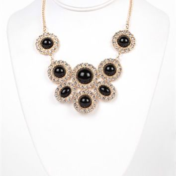 Large Statement Bubble Necklace with Short Chain