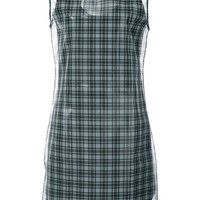 Plaid Sheer Dress by Helmut Lang