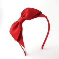 Red Bow Headband Snow White Costume Prop