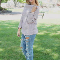 Lilac Meadows Sweater