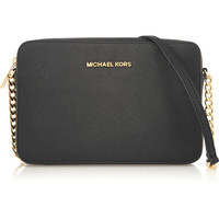 MICHAEL Michael Kors - Jet Set Travel large textured-leather shoulder bag