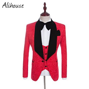 2017 Brand Custom Made New Groomsmen Shawl Lapel Groom Tuxedos Red/White/Black/Blue Men Prom Suits Wedding Best Man Blazer