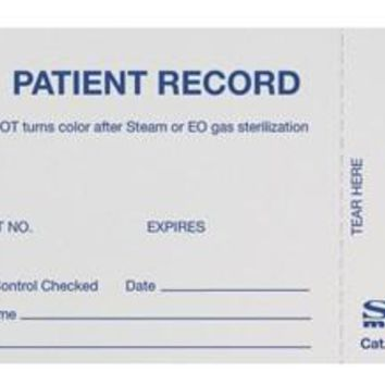 SPS Medical Supply  632263 Sterilization Record Card Steam / EO Gas - 250 COUNT