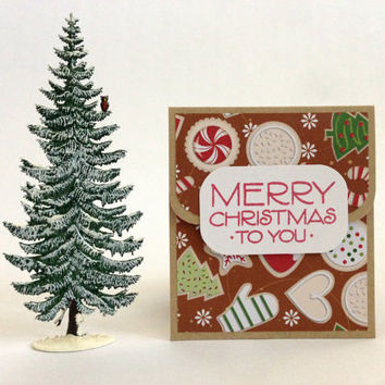 Christmas Gift Card Holder Set - Christmas Money Holder - Holiday Gift Card Holder - Gift Card Carrier - Gift Card Envelope - Coworker Gift