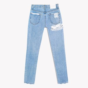 Butt Cheek High Rise Stone Jeans