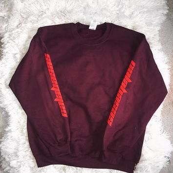 Calabasas Season 4 Kanye West Yeezy Saint Pablo Tour Crewneck Sweatshirt Merch