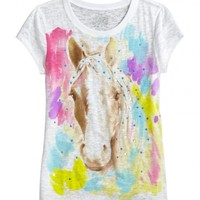 Watercolor Horse Graphic Tee