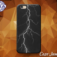 Lightning Black White Sky Photograhy Grunge Tumblr Case iPhone 5/5s and 5c and iPhone 6 and 6+ and iPhone 6s and iPhone 6s Plus iPhone SE