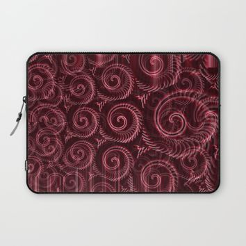 Maroon Decoration #2 Laptop Sleeve by Moonshine Paradise