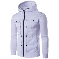 Hoodies Winter Men Classics Hats Zippers Slim Men's Fashion Jacket [10669395587]