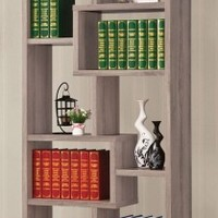Pelham 8 Shelf Bookcase DISTRESSED GRAY
