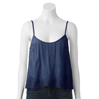 LC Lauren Conrad Embroidered Crop Camisole - Women's