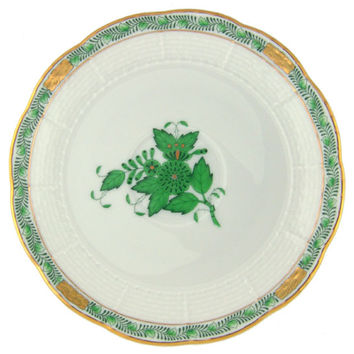 Herend Green Chinese Bouquet Tea Saucer 7061AV