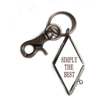 Father's Day Keychain Antique Copper