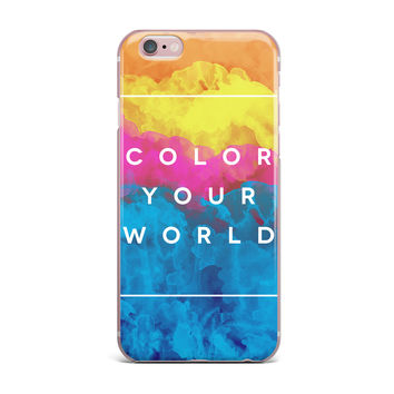 """Galaxy Eyes """"Color Your World"""" Rainbow Paint iPhone Case"""