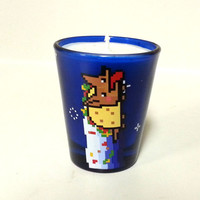 Nyan Cat Taco Soy Candle - Blue Shot Glass - CHOICE OF SCENT