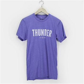 Unisex Men and Women Thunder Tee Shirt OKC Oklahoma City Adult True Royal Tr ...